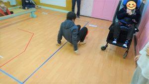 サーキット遊びのゴール間際の画像